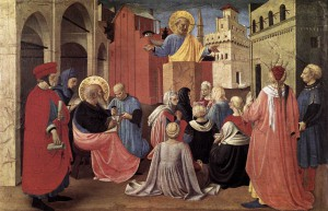 St Peter Preaching in the Presence of St Mark - Fra Angelico